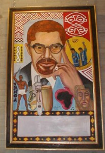 Malcolm X art to recognize the leadership that individuals in the past have possessed.