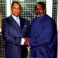 Min. Farrakhan with Stanley 'Tookie' Williams