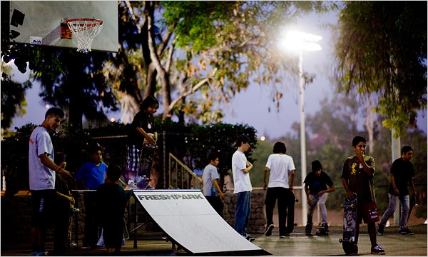 Ramon Garcia park in Los Angeles is one of 16 facilities in the Summer Night Lights program.