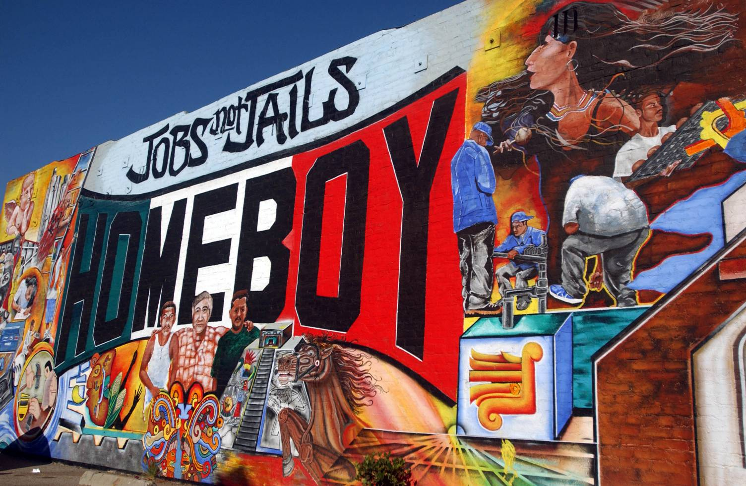Broke youth anti crime groups want federal cash for Blood in blood out mural la river