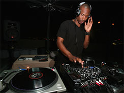 "DJ Darrin Ebron performs at the after party for ""Who's Your Caddy?"" in Los Angeles in 2007. (GETTY)"