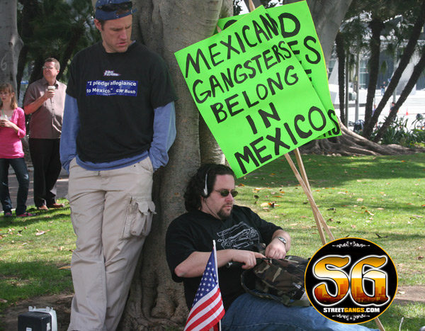 Anti-illegal immigration rally, Downtown Los Angeles