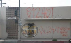 Compton Varrio 124 gang graffiti, Compton, CA, March 2007