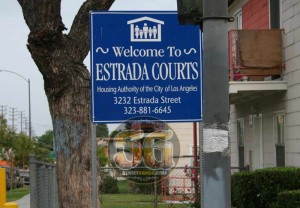Estrada Courts, Boyle Heights in Los Angeles, May 2008