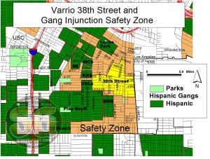 Gang territory of Varrio 38th Street