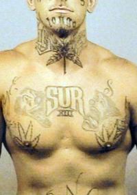 SUR gang tattoo