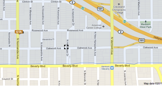 Oakwood Avenue and North Heliotrope Drive