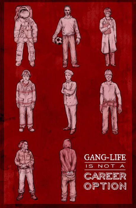 teens against gangs poster