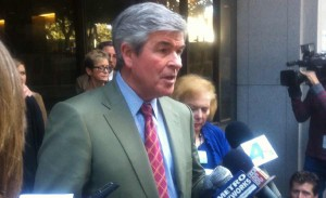 Rasmussen family attorney, John Taylor, addressing media after guilty verdict, March 8, 2012