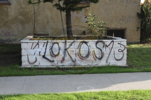W/S Lokos graffiti on 8700 block of Regent Street, December 6, 2012