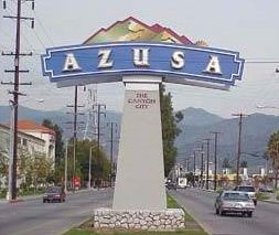 azusa city limits sign