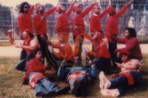 Blood inmates in Soledad Prison, 1988