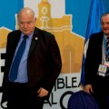 Organization of American States (OAS) Secretary General Jose Miguel Insulza and Guatemala's Foreign Minister Fernando Carrera