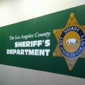 los angeles sheriff dept badge green