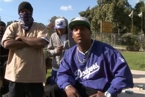 Tiny Crip Cal (T C ) from Altadena Blocc Crip on doing 12 years in