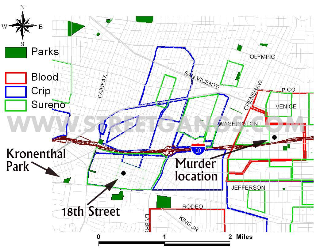 Arlington Heights  West Adams Area StreetGangsCom - Los angeles map gangs