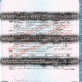 raymond washington death certificate