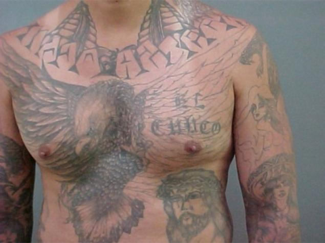 Hit man testifies u s gang members trained as killers by for Mexican prison tattoos