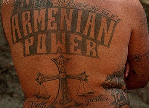 Armenian Power gang tattoo