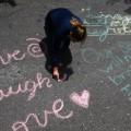 UC Santa Barbara student chalk message