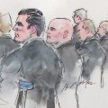 court drawing of the deputy defendants