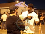 "Cle ""Bone"" Sloan on the set of Straigh Outta Compton, 2014"