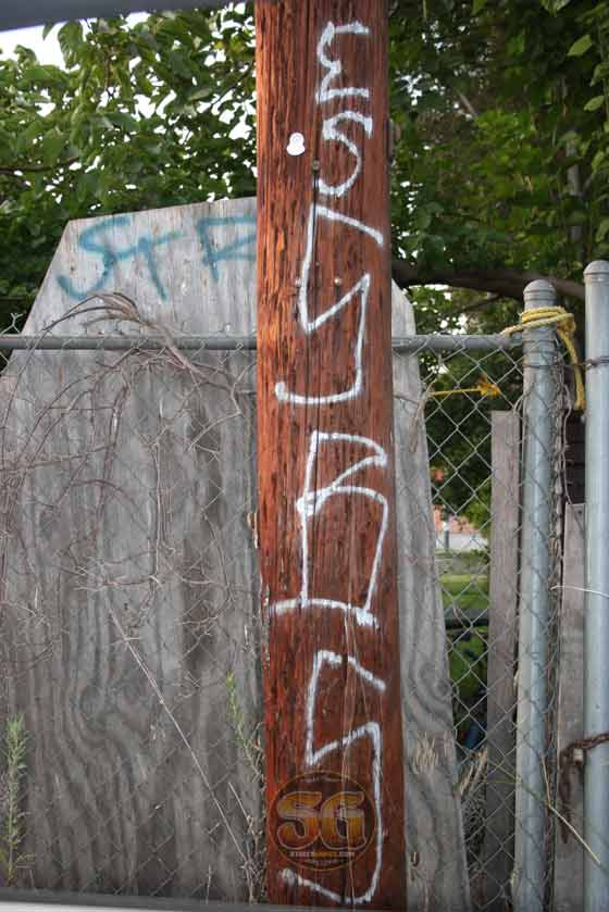 Sentinal Boys (SBS) graffiti in Boyle Heights