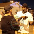 """Cle """"Bone"""" Sloan on the set of Straigh Outta Compton, 2014"""